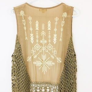 Kori Tan Festival Fringe Vest size Medium/Large